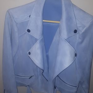 Pastel blue moto jacket